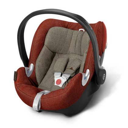 Cybex Platinum Infant Carrier Aton Q Plus Autumn Gold - burnt red 2018 - Image de grande taille