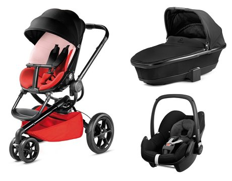 Quinny Moodd including Dreami Carrycot and Maxi-Cosi Infant Car Seat Pebble Reworked Red 2016 - Image de grande taille