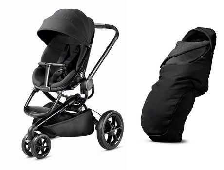 Quinny Moodd stroller including foot muff Black Devotion 2017 - Image de grande taille