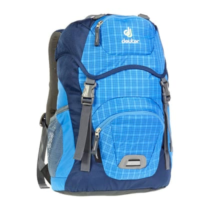 Deuter children's backpack Junior in coolblue check 2016 - Image de grande taille