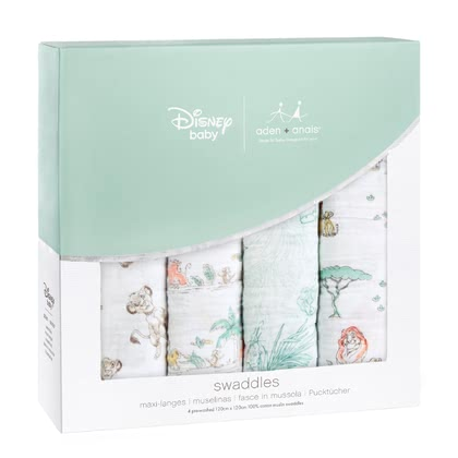 Chiffons aden + anais Disney Swaddle pack de 4 The Lion King - Image de grande taille