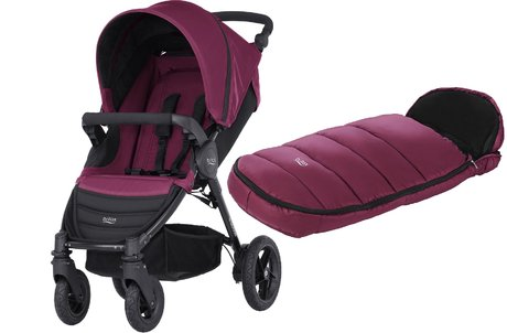 Britax B-Motion 4 incl. chancelière Shiny Cosytoes Wine Red 2018 - Image de grande taille