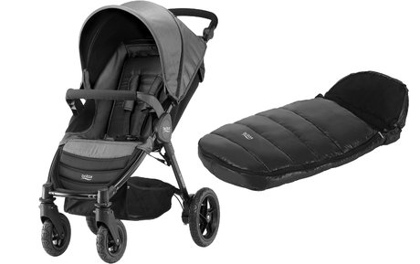 Britax B-Motion 4 incl. chancelière Shiny Cosytoes Black Denim 2018 - Image de grande taille