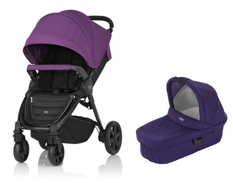 Britax B-Agile 4 Plus incl. Canopy Pack + nacelle Mineral Lilac 2017 - Image de grande taille
