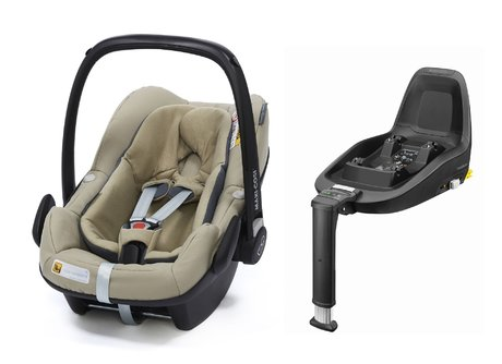Maxi Cosi Babyschale Pebble Plus inkl. 2Way Fix Sand 2018 - Image de grande taille