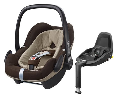 Maxi Cosi Babyschale Pebble Plus inkl. 2Way Fix Earth Brown 2017 - Image de grande taille