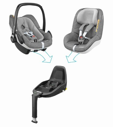 Maxi Cosi 2Way Family Konzept  Nomad Grey 2018 - Image de grande taille