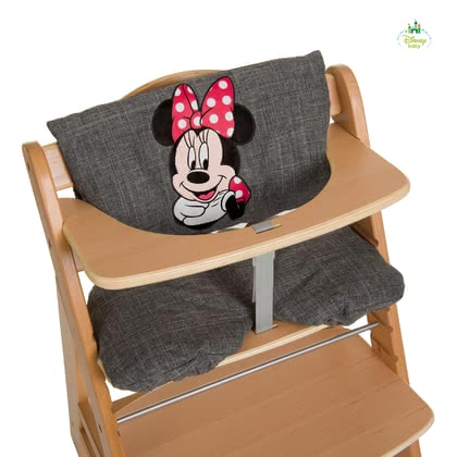 Disney support pour le chaise haute Deluxe Mickey & Minnie - Les coussins de chaise luxe confortables sont décorées avec Disney Mickey & Minnie sur le thème enchanteur.