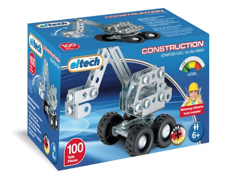 Eitech Metal Building Kit Mini-Digger - Avec l'eitech construction set mini-pelle que votre petit ingénieur doit remplir un véhicule sur le site mini en pépinière.