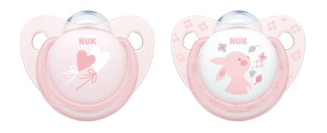 NUK Baby Rose & Baby Blue Sucettes physiologiques Trendline, silicone Baby Rose - Image de grande taille