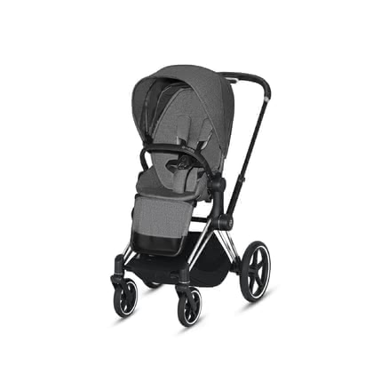 Cybex Platinum PRIAM Seat Pack Sitzpaket Manhattan Grey Plus - mid grey 2020 - Image de grande taille