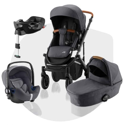Britax Römer Kinderwagen SMILE III – Comfort Plus Bundle Midnight Grey 2020 - Image de grande taille