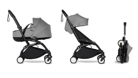 Babyzen YOYO² including Carrycot and Textile Set 6+ grey 2021 - Image de grande taille