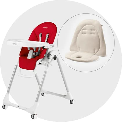 Peg-Perego Highchair Prima Pappa Follow Me incl. Seat Cushion Fragola 2021 - Image de grande taille