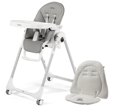 Peg-Perego Highchair Prima Pappa Follow Me incl. Seat Cushion Ice 2021 - Image de grande taille